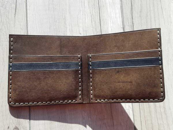 Портмоне из натуральной кожи Bi-Fold Tabaco 11х10 см